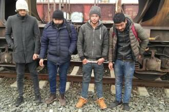 Trei libieni şi un marocan, descoperiţi la ieşirea din ţară sub autoturisme aflate pe o platformă feroviară