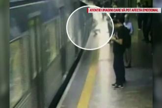 Tânără de 23 de ani, împinsă în fața metroului. Atacatorul a ales-o la întâmplare