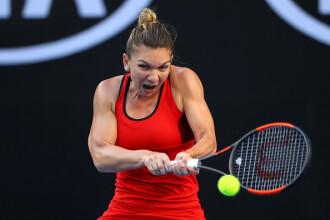 Simona Halep a învins-o pe Eugenie Bouchard cu 6-2, 6-2, în turul II la Australian Open