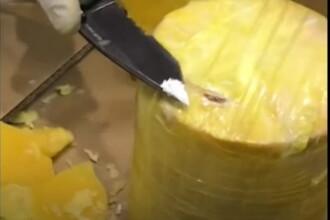 Polițiștii spanioli și portughezi au găsit sute de kilograme de cocaină, ascunse în ... ananas