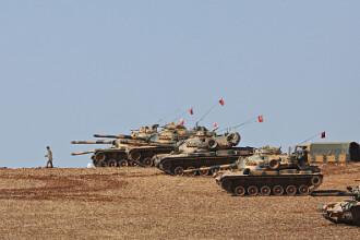 Turcii au început operațiunea. Îi bombardează pe kurzii din Siria