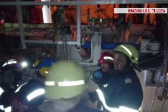 Filmul accidentului din Șantierul Naval Tulcea, în care un bărbat a murit strivit de o piesă de 7 metri