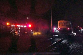 Tren cu 25 de pasageri, cuprins de flăcări în gara din Timișoara