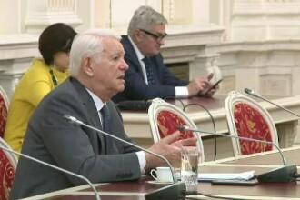 Meleşcanu a criticat Schengen la audieri.