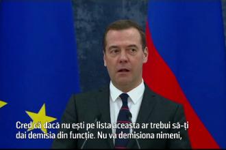 """Premierul rus ironizează """"lista lui Putin"""": """"Cred că dacă nu eşti pe ea, ar trebui să-ţi dai demisia"""""""