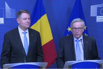 """Iohannis, după discuția cu Juncker la Bruxelles: """"Independența justiției rămâne intangibilă"""""""