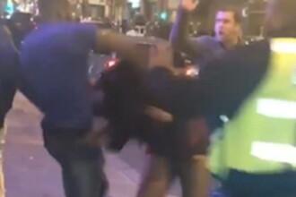 Mobilizare pentru prinderea unui bărbat care a bătut o femeie, în fața unui club, de Revelion