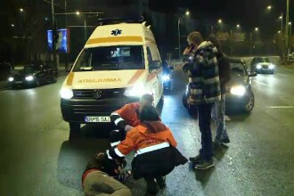 Accident pe șoseaua Mihai Bravu. Un tânăr a traversat strada neregulamentar