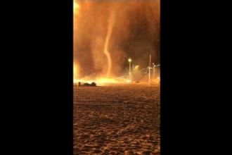 Tornadă de foc în Olanda, în noaptea de Anul Nou. Explicația fenomenului bizar