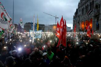 Mii de persoane au protestat la Budapesta împotriva