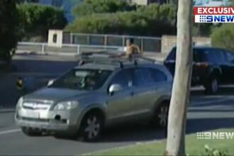 O femeie s-a plimbat 10 minute prin oraș cu bebelușul pe plafonul mașinii