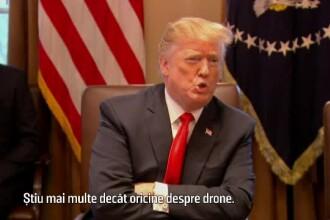 """Donald Trump, cel mai priceput om din lume: """"Ştiu mai multe decât oricine despre drone"""""""