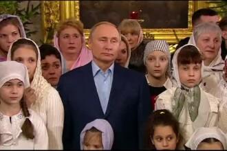 Vladimir Putin a mers în Ajunul Crăciunului la o biserică din St.Petersburg