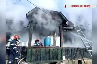 Bărbat găsit carbonizat în locuință, în județul Argeș. Vecinii au alertat pompierii