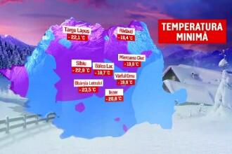 Temperaturile de -23,5 grade au făcut două victime. Prognoza pentru următoarele zile