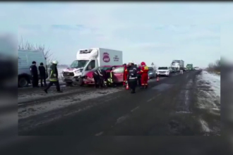 Carambol pe DN1, în Alba Iulia. Greșeala comisă de un șofer de camion