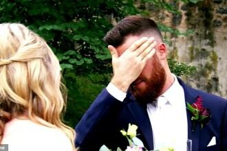 Reacţia unei mirese când soţul îi dezvăluie un detaliu din trecut, imediat după ceremonie. VIDEO