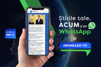 Știrile ProTv.ro lansează newsletter-ul pentru telefonul mobil. Gratuit, prin WhatsApp: 0751 121 112
