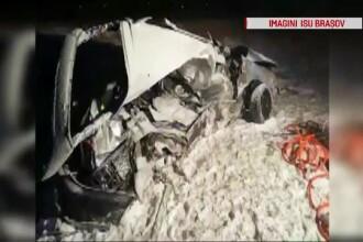 Un bărbat a murit într-un accident pe DN1. Mașina lui, aruncată 10 metri pe câmp