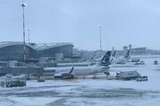 Probleme pe aeroporturi din cauza ninsorii. Cursele din Iași au fost suspendate