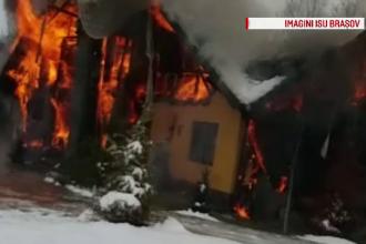 Pompierii brașoveni, nevoiți să se deplaseze pe jos pentru stingerea unui incendiu