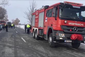 Accident cu 6 victime în Gorj. O fetiță de 10 ani are fractură la coloană