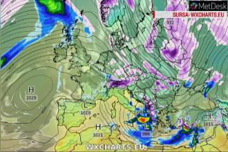 Un ciclon din Atlantic lovește România. Zonele afectate de zăpadă și vânt puternic