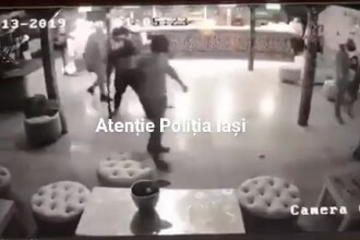 Noi imagini, surprinse înainte de crima din Mediaș. Ucigașul amenință, în club, cu cuțitul