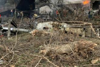 Un avion s-a prăbuşit într-o suburbie a Teheranului. Există un supravieţuitor