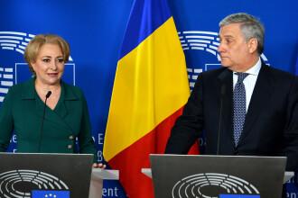 Dăncilă, la Strasbourg. UE vrea să înghețe plățile către ţările care pun în pericol statul de drept