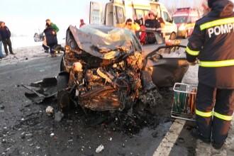 Accident grav în judeţul Giurgiu. Un şofer a adormit şi a ajuns pe contrasens