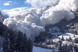 Avalanșă impresionantă, filmată în Alpii elvețieni. VIDEO