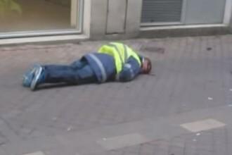 """Imagini șocante cu un protestatar din Vestele Galbene """"împușcat în cap de jandarmi"""". VIDEO"""