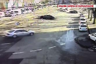 Imagini ireale în Timișoara. Câte mașini a tamponat o șoferiță care a derapat pe gheață