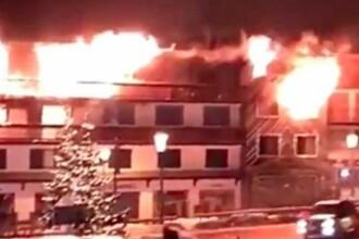 Incendiu în stațiunea Courchevel: 2 morți și 22 de răniți. Unii au sărit de la etaj