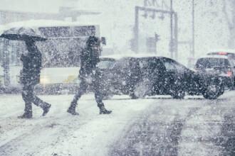 Cod galben de viscol și vânt. Informare meteo de ninsori și vreme deosebit de rece