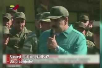 """Propagandă cu Maduro și armata. """"Sunteți anti-imperialiști?""""; """"Da, președinte!"""""""