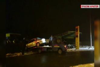Accident grav în Dolj. Un şofer de 20 de ani a intrat cu maşini într-o staţie de alimentare auto