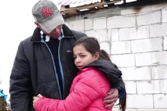 Un tată și fiica lui au nevoie de ajutor după ce casa le-a luat foc și au rămas pe drumuri