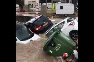 Scene de groază în Israel, în urma inundațiilor. Cel puțin două persoane au murit