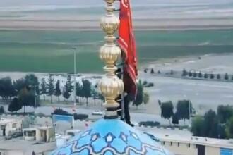 Semnul că Iranul se pregătește de război. Steagul arborat într-un loc sfânt