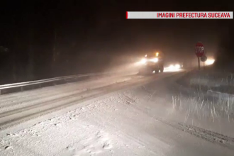 Viscolul și ninsoarea abundentă pun probleme șoferilor. Zonele afectate