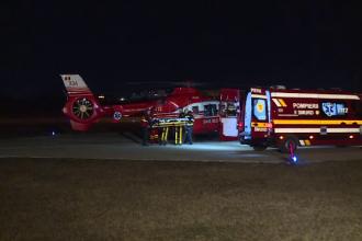 Misiune de noapte pentru un elicopter SMURD. Ce a păţit o copilă de 3 ani