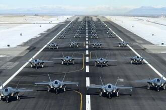 Forțele SUA își încordează mușchii. Exercițiu militar cu 52 de avioane de ultimă generație