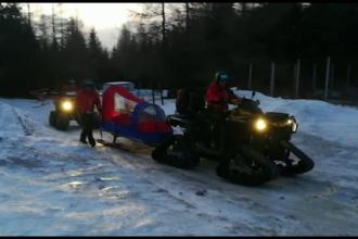 Accidentați la schi pe pârtiile din România, din cauza zăpezii artificiale