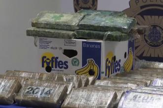 Cocaină transportată în banane, descoperită de poliție. De unde provenea