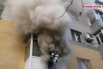 Incendiu puternic într-un apartament din Slatina. Greșeala făcută de o femeie