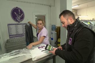Aplicaţia prin care românii îşi curăţă hainele.