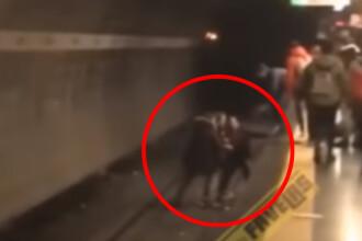 Clipe de groază în Roma. O româncă a încercat să se sinucidă la metrou. VIDEO