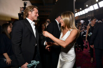 Premiile SAG. Brad Pitt și Jennifer Aniston s-au felicitat în culise